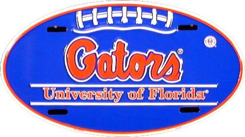 Florida Gators NCAA Oval License Plate