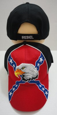 4f5a16a5193 Rebel Flag Hat with Eagle Head