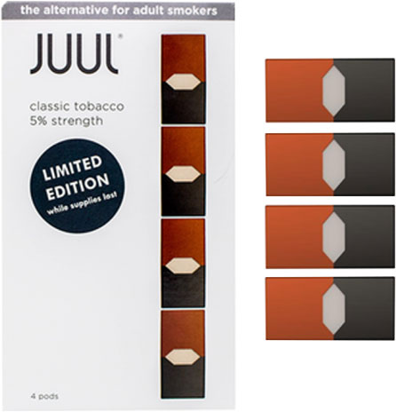JUUL PODS CLASSIC TOBACCO FLAVOR 8 PACK/BX