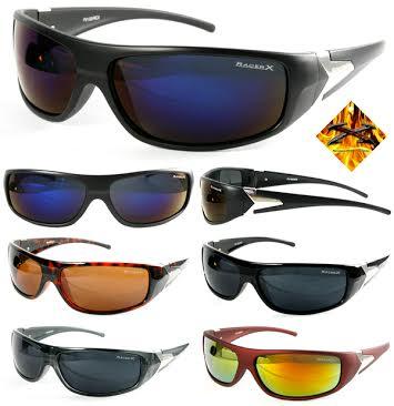 c6437ae1454 Racer X Sports Sunglasses - Sports sunglasses with metal logo