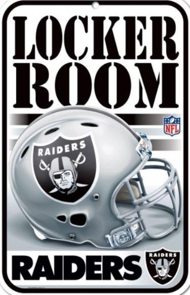 8f48faac Decor Locker Room Signs Plastic - NFL Oakland Raiders