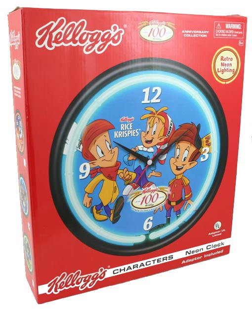 Kellog/'s Rice Krispies Character Neon Clock