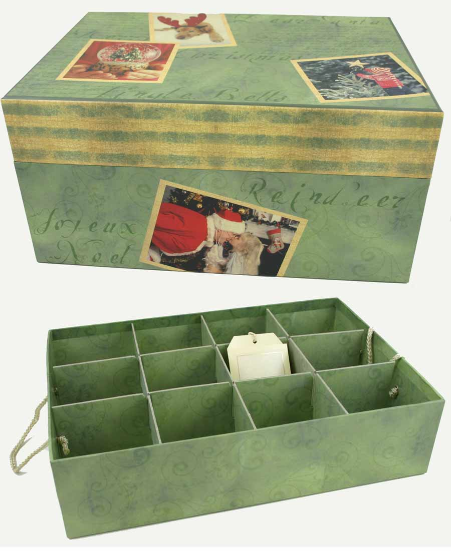 Christmas Ornament Storage.Our Christmas Memories Ornament Storage Box