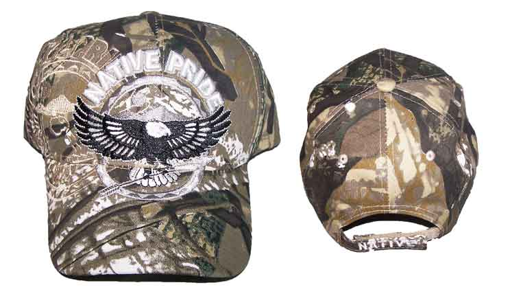 Native Pride Embroidered Baseball Caps Hats - Flying Eagle d7404a5f06a