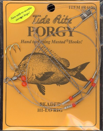 Beaded Wire HI-LO Rig #R460 READY TO FISH MUSTAD HOOKS PORGY 12 X  RIGS