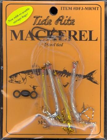 4 TIDE RITE MACKEREL 4 DROP MYLAR TUBE DFJ-MRMT BAIT FISH  FISHING RIGS
