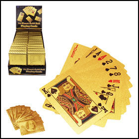 Gold Foil Playing Cards ($2.97)