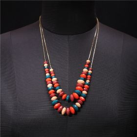 Womens Layered Beaded Necklace