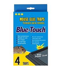 Mouse Glue Traps - 4Traps/PK