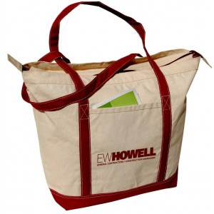 Carry-All Tote Natural Burgundy