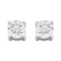 Sterling Silver Diamond Studs