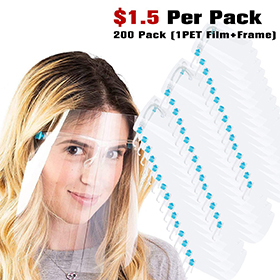 200Pack Safety Face Shield Anti-Fo