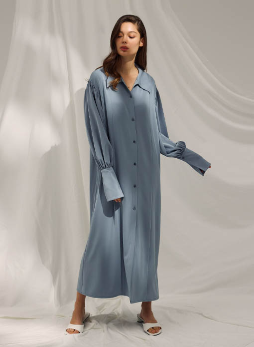 Drape Shirt Robe