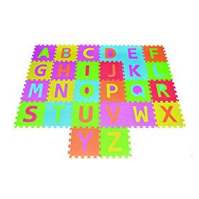 Alphabet Puzzle Play Mat ABC Foam Tile Rainbow Floor