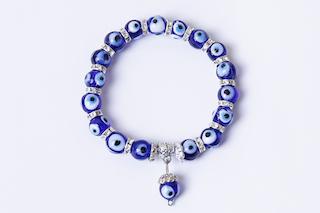 Dark Blue Evil Eye Bracelet