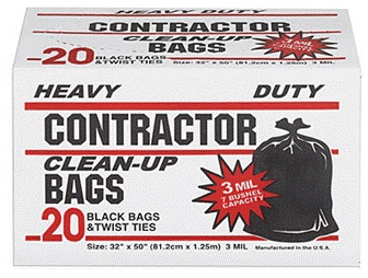 Contractor Bags, 20-count, USA