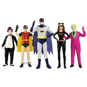 Batman 1966 Bendable Figures Set