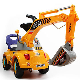 Digger scooter, Ride-on excavator, Pulling cart