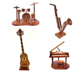 Handcrafted Wood Music Instruments