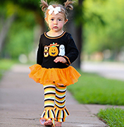 Boo Halloween Tunic & Striped Pant