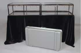 Six foot Tabletop Display Cases