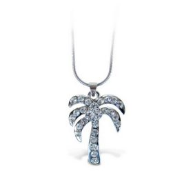 Palm Tree - Sparkling Necklace