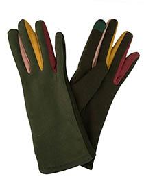 Color Contrast Glove, cotton blend