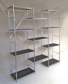 Six Foot Wall Shelf Display-Black