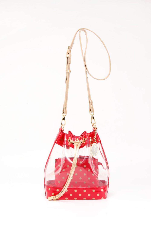 Sarah Jean Clear Bucket Handbag