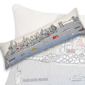 NYC King Day Pillow