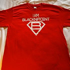 I Am Blacknificent Red T-Shirt