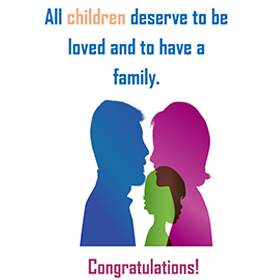 5X7 Adoption congrats card