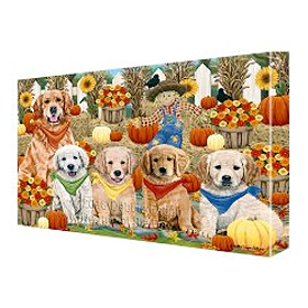 Fall Golden Retriever Canvas