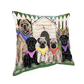 Spring Dog House Pillows