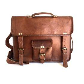 100% Leather Messenger Bag