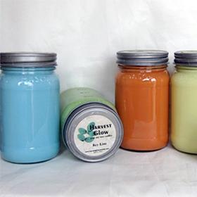 16oz Square Mason Jar Soy Candle
