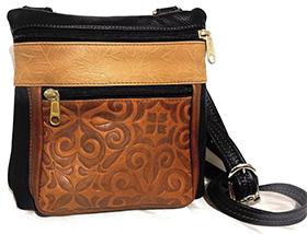 Leather Crossbody Bag - Style #120