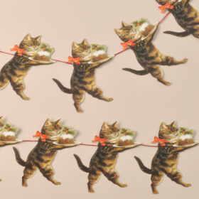Christmas Cat Garland