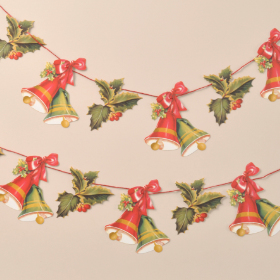 Holly and Bells Garland