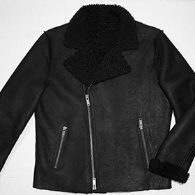 Upscale Shearling Silhouette Jkt