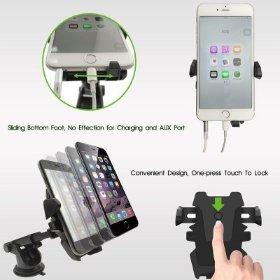 360° Mount Universal Car Holder for iPhone & Samsung
