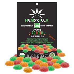 Hempzilla CBD Sour Gummies - 20ct.