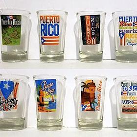 PUERTO RICO SHOT GLASSES