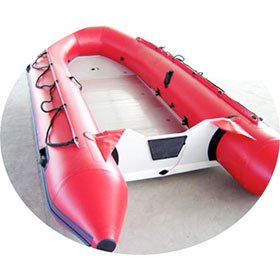 inflatable boats by pvc or hypalon fabrics