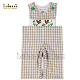 Smocked longall for baby boys