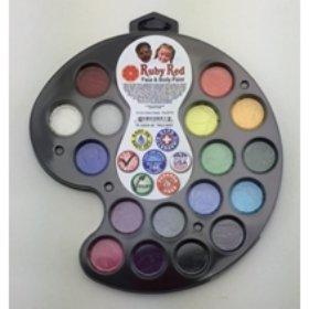 16 Color facepaint Artist's Pallet