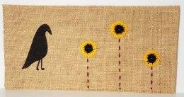 Primitive Burlap Sleeve Sunflower