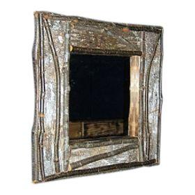 Birch Bark Log Frames & Mirrors
