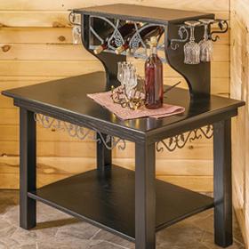 Black Ash Wine Server Table