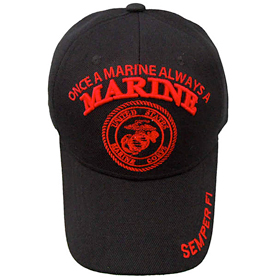 'Once A Marine' Military Cap
